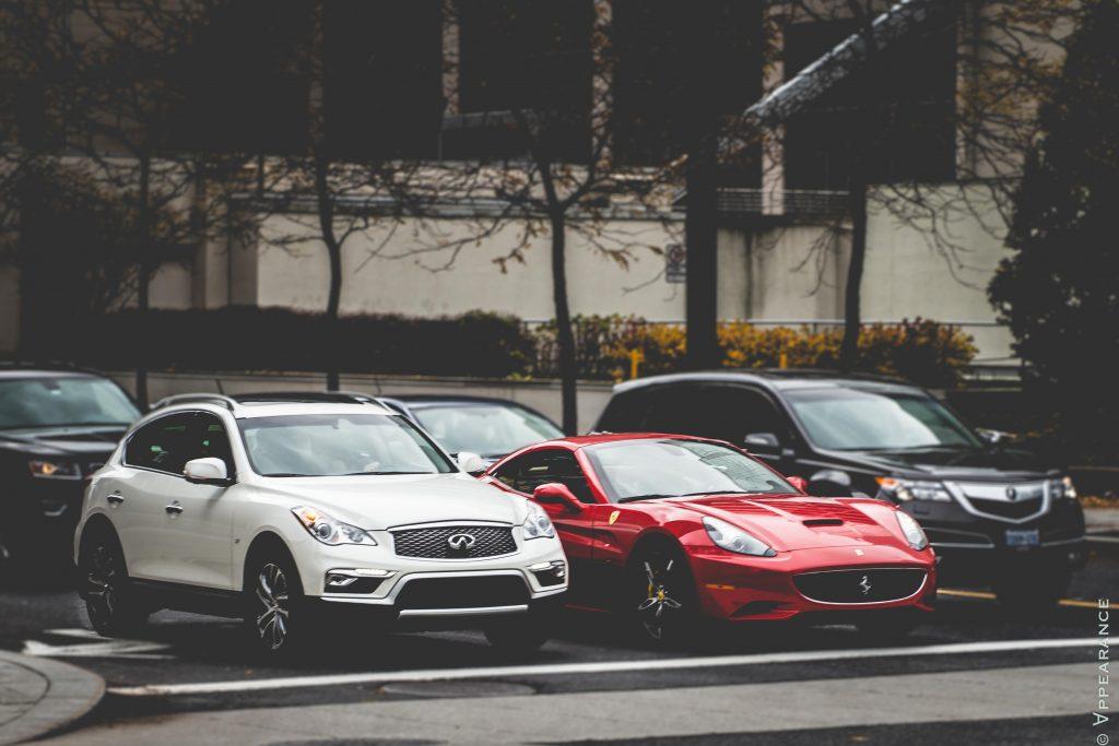 2016 Infiniti QX50 - Ferrari California