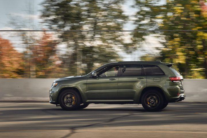 2021 jeep grand cherokee trackhawk driving side rear